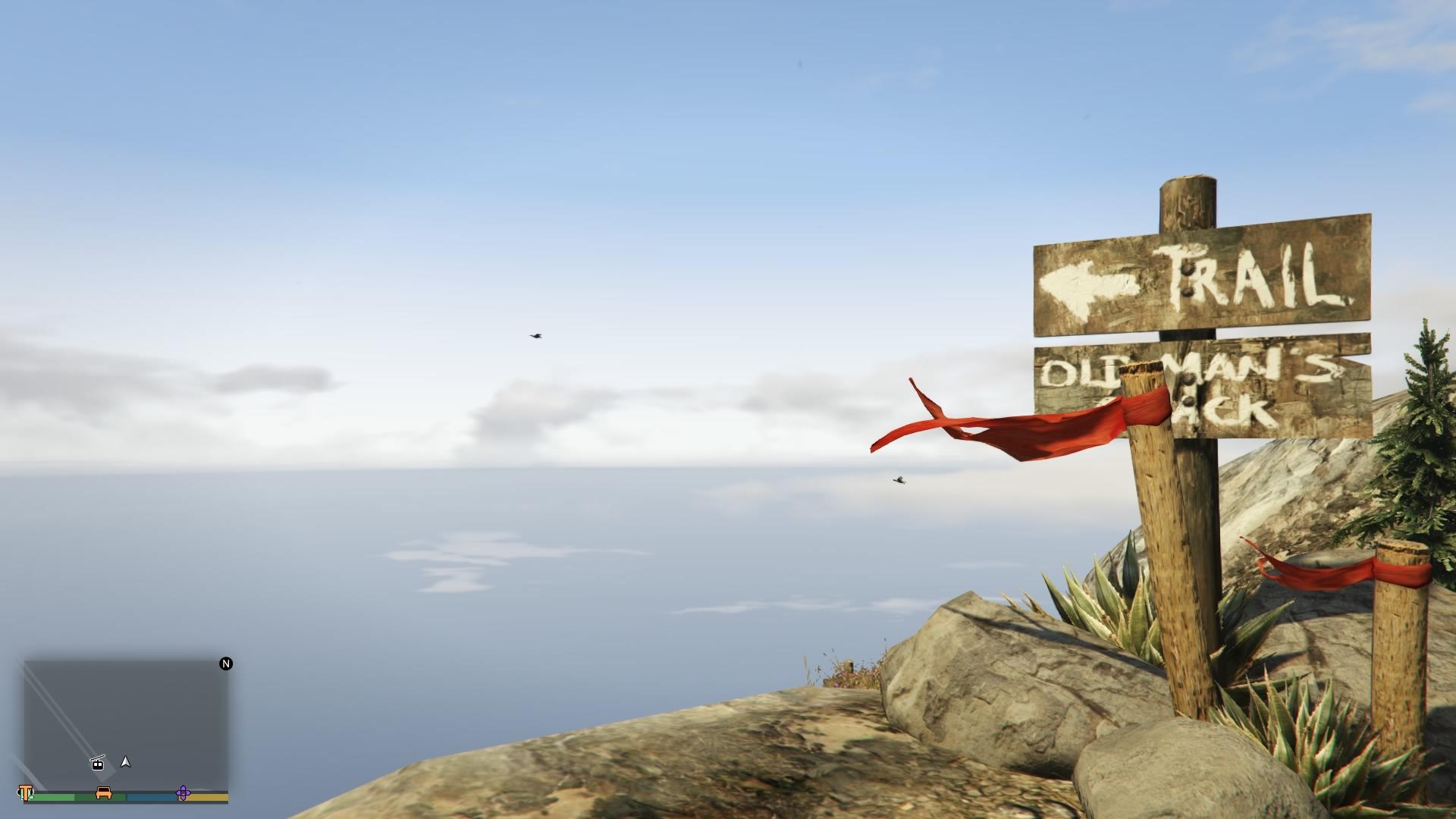 山頂の注意書き